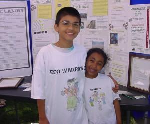 Jon and Nya Green Eco Warriors